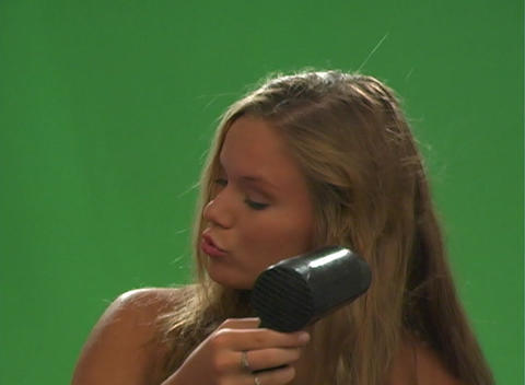 Beautiful Teen Blonde with a Blow Dryer-2 Footage