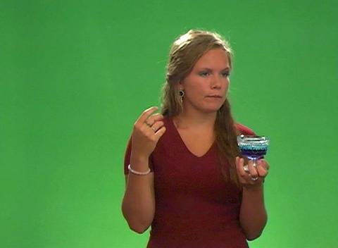 Beautiful Teen Blonde Taste Tester Stock Video Footage