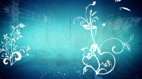 Vector flowers 5 loop Stock Video Footage