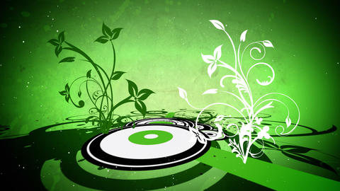 Vector flowers 7 loop Stock Video Footage