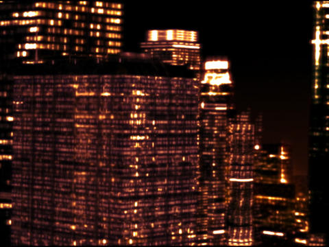 Skyscrapers by night Animation
