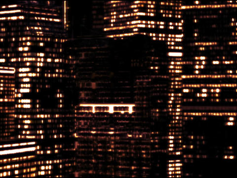 Skyscrapers by night Stock Video Footage