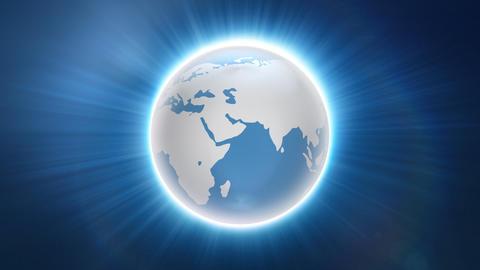 News type globe background Stock Video Footage