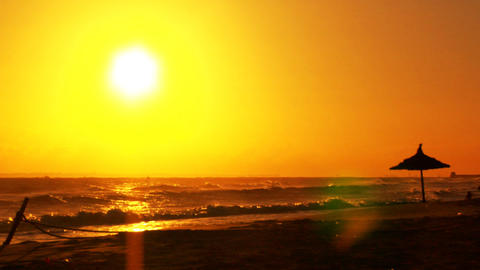 Morning Sun at a Beach Stock Video Footage