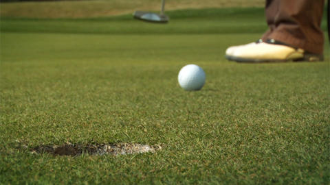 Golf Putt Stock Video Footage