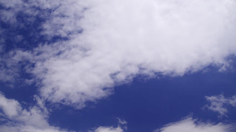 clouds covering a blue sky: timelapse Footage