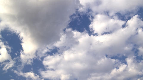 clouds and blue sky: timelapse Stock Video Footage