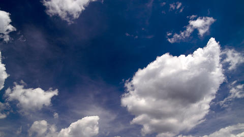 clouds on a sunny sky Stock Video Footage