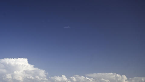 storm clouds on a blue sky: timelapse Footage