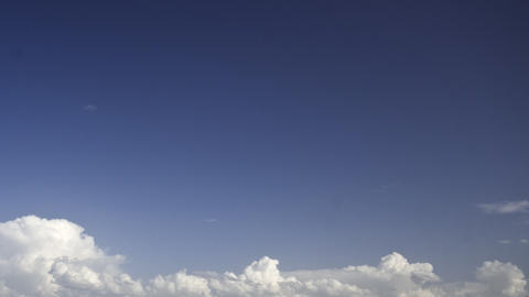 storm clouds on a blue sky: timelapse Stock Video Footage