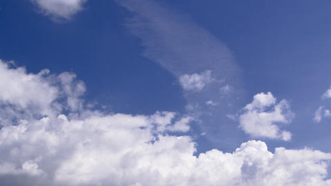 clouds on a beautiful blue sky: timelapse Stock Video Footage