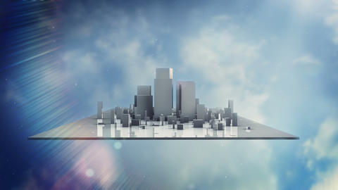 Sky City Stock Video Footage
