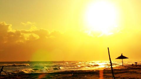 Sun over Sea Stock Video Footage