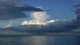 Time lapse of single cell cumulonimbus cloud Stock Video Footage