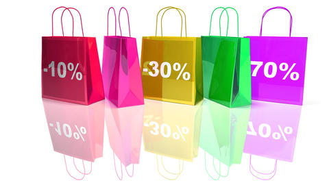 shopping bags 2 Stock Video Footage