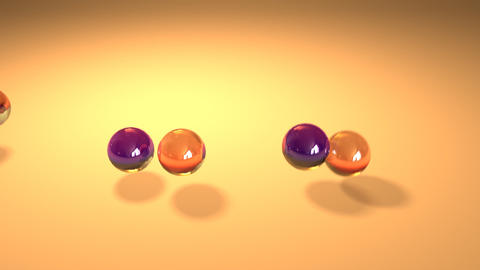 balls background 01 Stock Video Footage