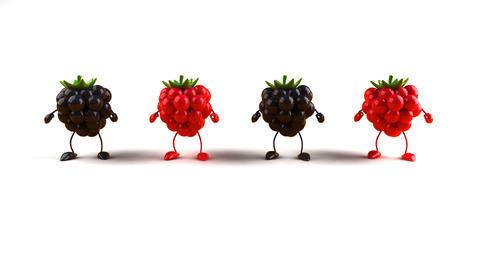 berries dance Stock Video Footage