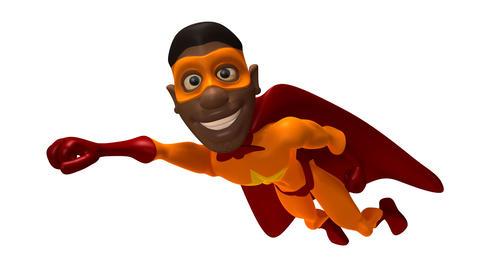 black superman Stock Video Footage