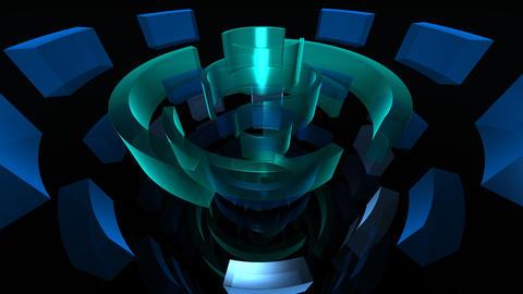 blue circles HD Animation
