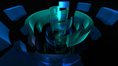 blue circles HD Stock Video Footage