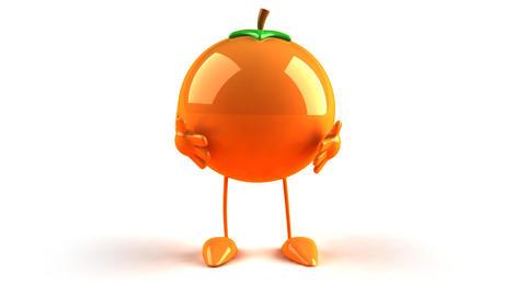 orange bow Animation