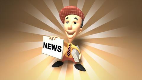 boy news 2 Stock Video Footage