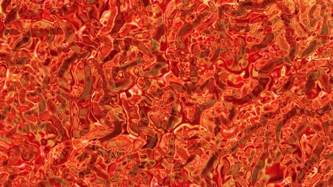 Looping animations of a fire colored molten glass like... Stock Video Footage