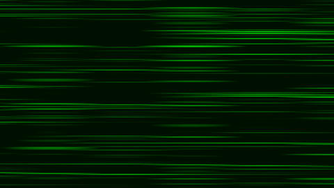 Looping animation of green and black horizontal lines oscillating Animation
