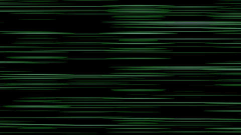 Looping animation of light green and black horizontal lines oscillating Animation