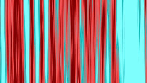 Looping animation of aqua and red vertical lines oscillating Stock Video Footage