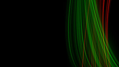 Looping animation of red and green light rays Stock Video Footage