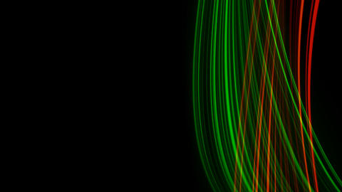 Looping animation of red and green light rays Animation