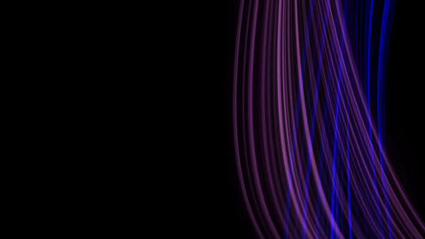 Looping animation of purple and blue light rays Stock Video Footage
