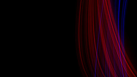 Looping animation of red and blue light rays Stock Video Footage