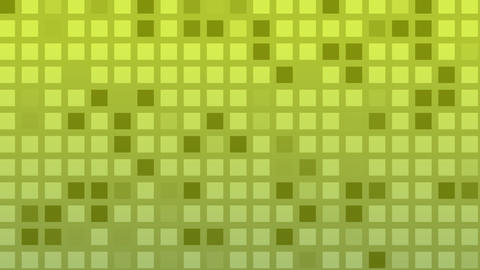 Looping Animation Of Green And Yellow Colored Tiles Change Color And Pattern stock footage