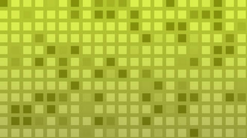 Looping animation of green and yellow colored tiles change color and pattern Animation