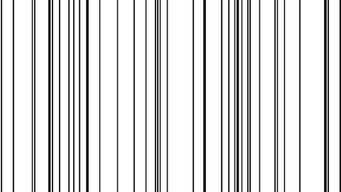 Looping animation of black and white vertical lines oscillating Animation