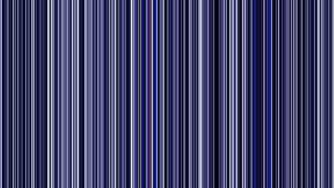 Looping animation of black, white and blue vertical lines oscillating Animation