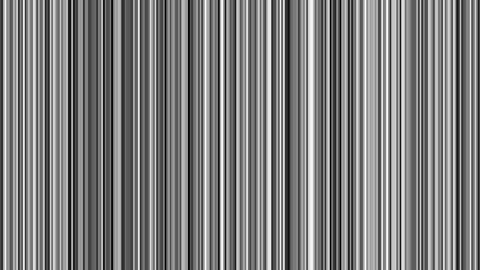 Looping animation of black, white and gray vertical lines oscillating Animation