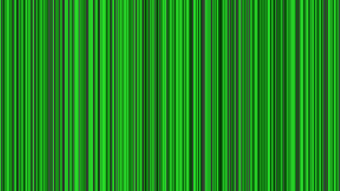 Looping animation of black, gray and green vertical lines oscillating Animation