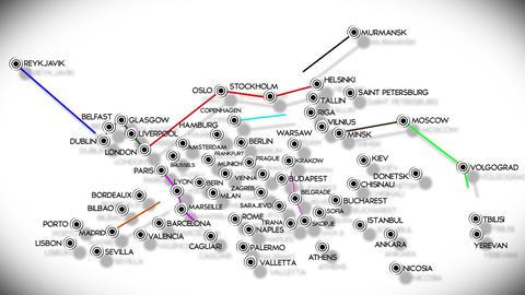 European Cities Subway Map Design 3 Stock Video Footage