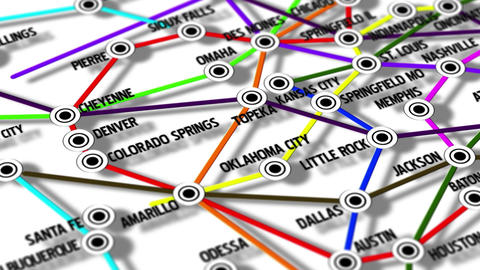 United States Map Network Design Macro 4 Animation
