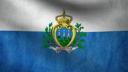 San Marino Flag stock footage