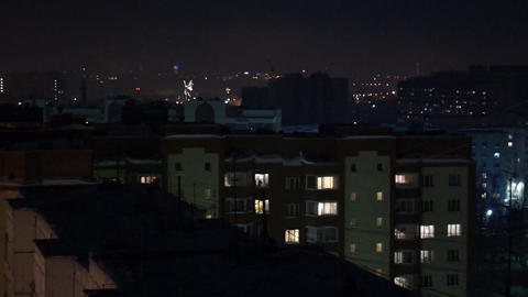 City in fireworks Stock Video Footage