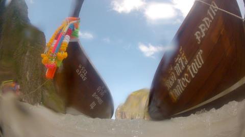 Fishing boat loop Stock Video Footage