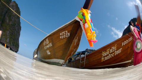 Thai fishing boat Stock Video Footage