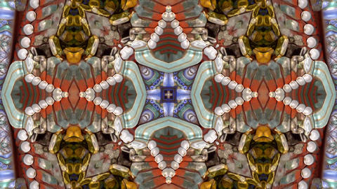 Beautiful Asia Chinese Oriental traditional pattern.four consecutive fractal kal Live Action