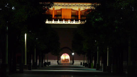 close-up of Beijing Forbidden City palace & Tiananmen... Stock Video Footage