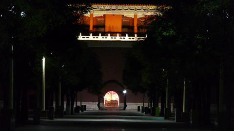 close-up of Beijing Forbidden City palace & Tiananmen Square behind door Footage