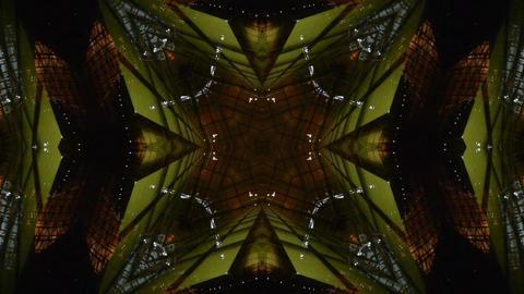 Kaleidoscope tunnel channel X pattern,sci-fi fantasy style Stock Video Footage